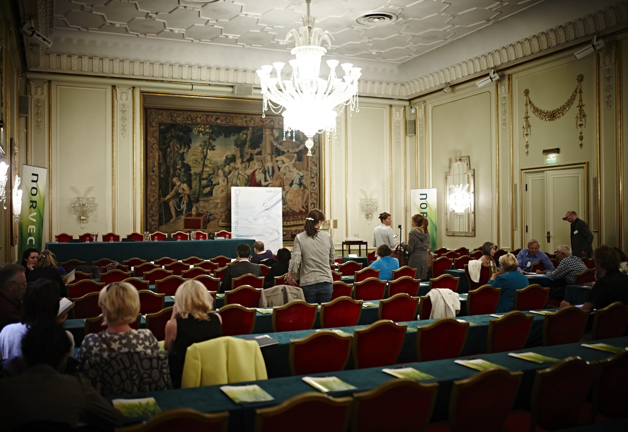 People are starting to arrive at the NorVect conference 2014